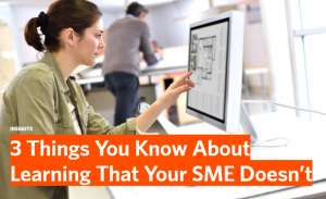 3 Things You Know About Learning That Your SME Doesn't