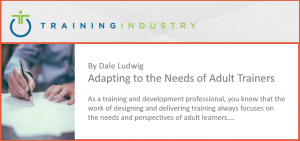 Adapting to the Needs of Adult Trainers by Dale Ludwig