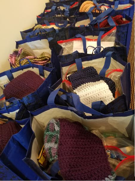 Turpin Cares put together 25 care packages for the homeless in Chicago