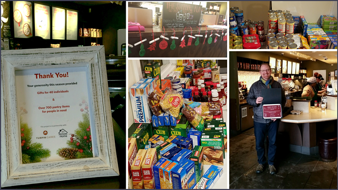 Turpin Cares partnered with Almost Home Chicago and Starbucks for holiday gifts for people in need