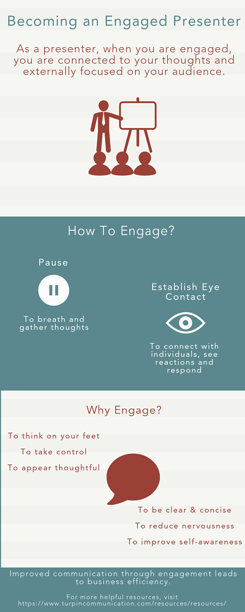 An infographic about how and why to become an engaged presenter.